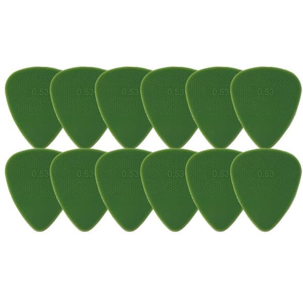 Snarling Dogs Brain Picks Set .53mm Green THIN (12 Plectrums) Supplied in Tin